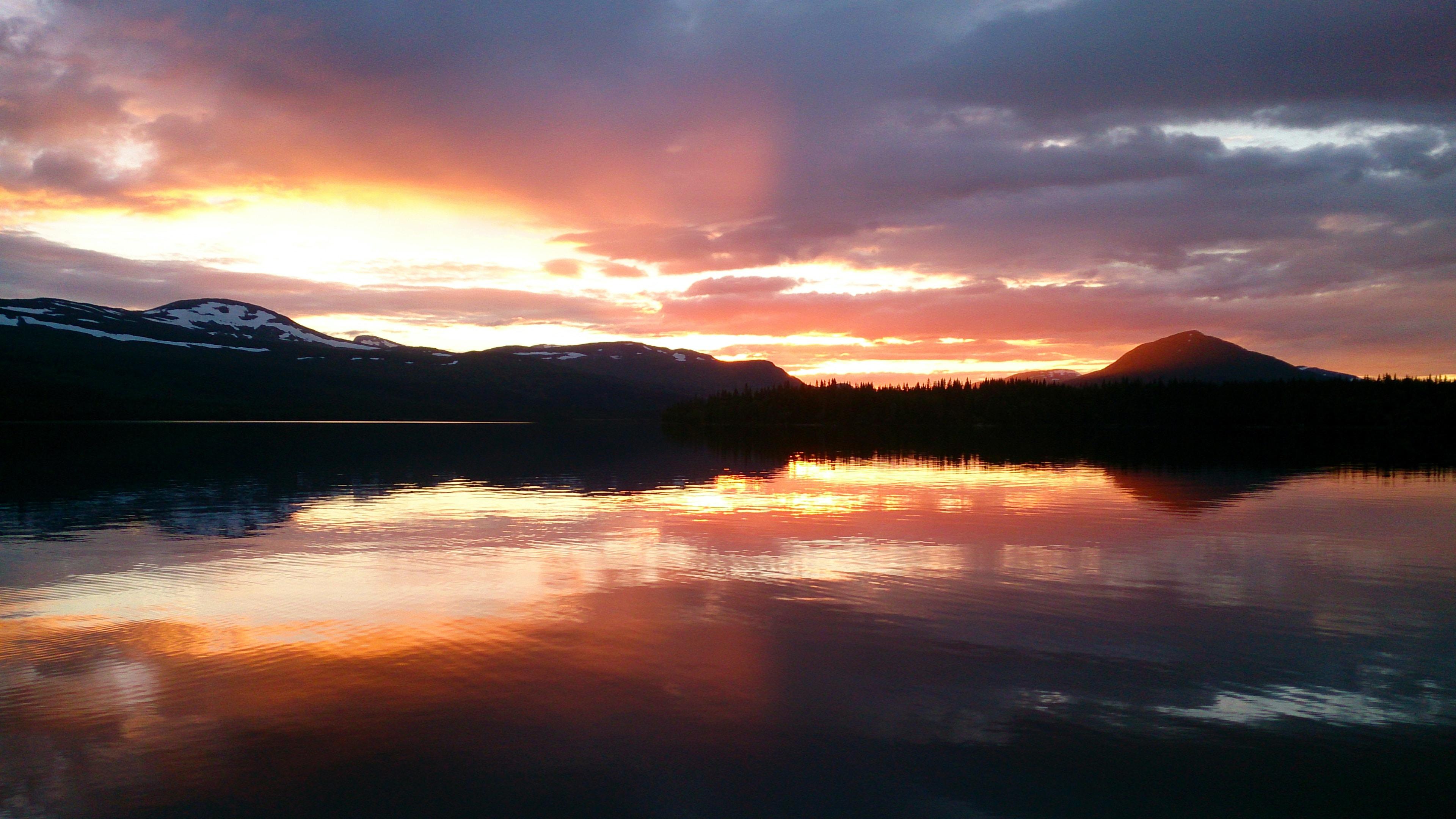 природа горизонт солнце озеро облака отражение  № 623538 без смс
