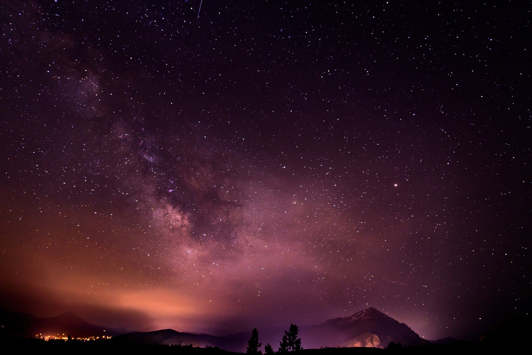 purple milky way silverthorne photo by nathan anderson