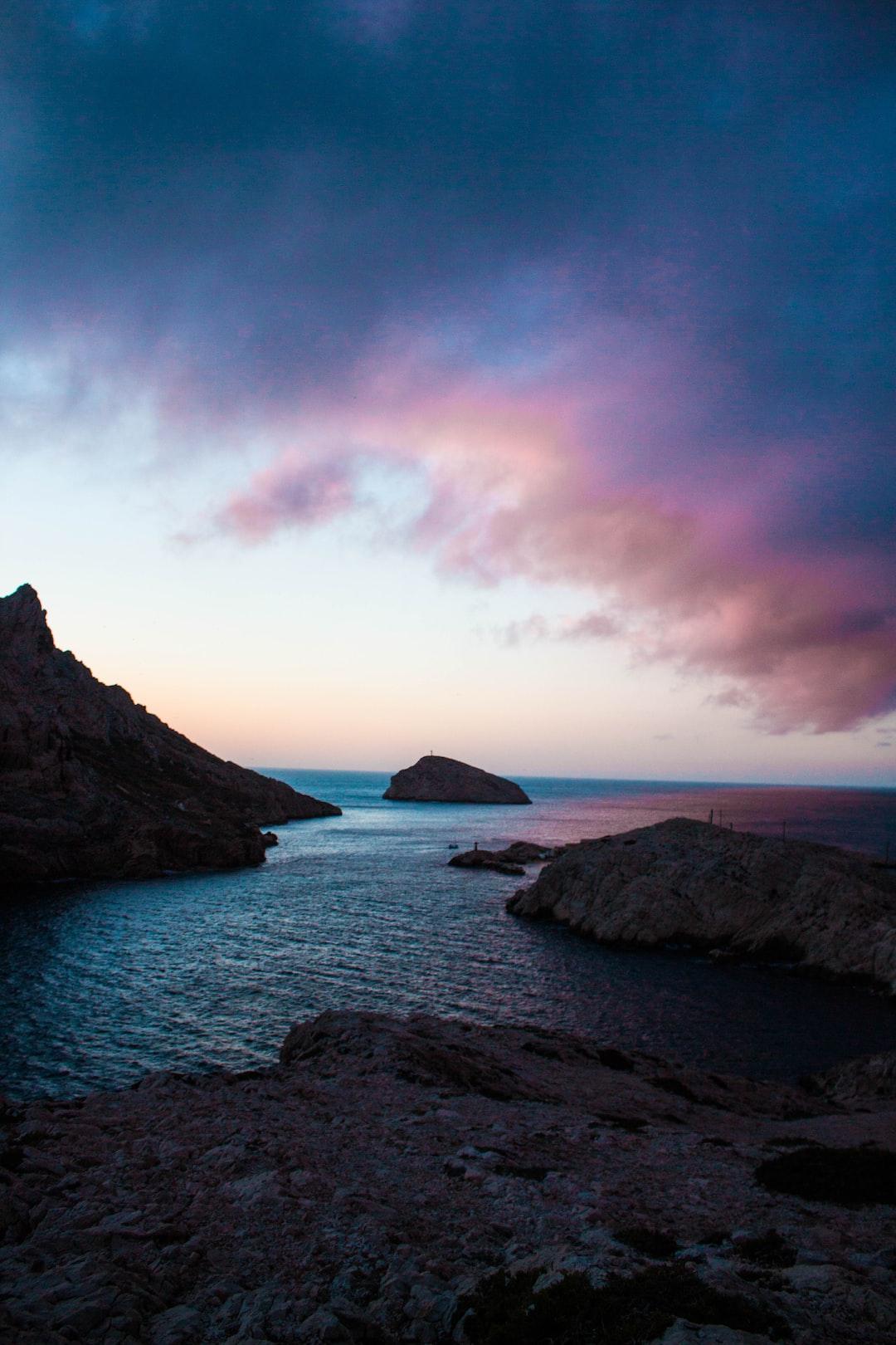 Pink Sky Blue Sea Photo By Valentin Antonini
