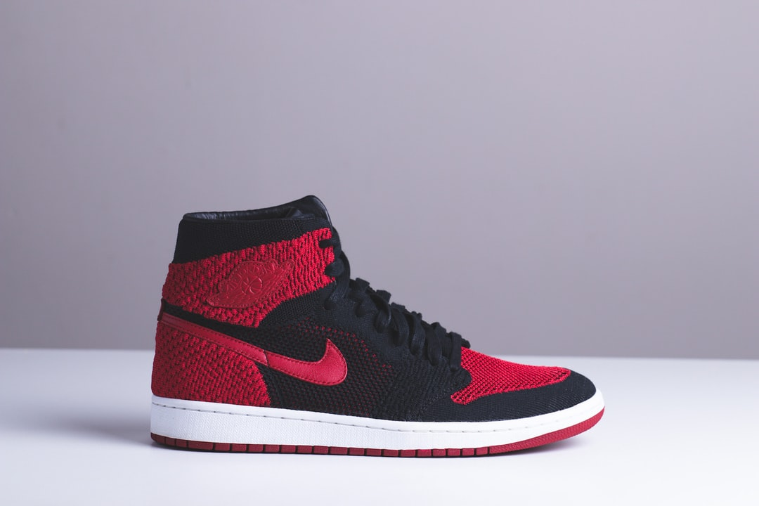 black and red Nike high-top sneaker photo – Free Apparel ...