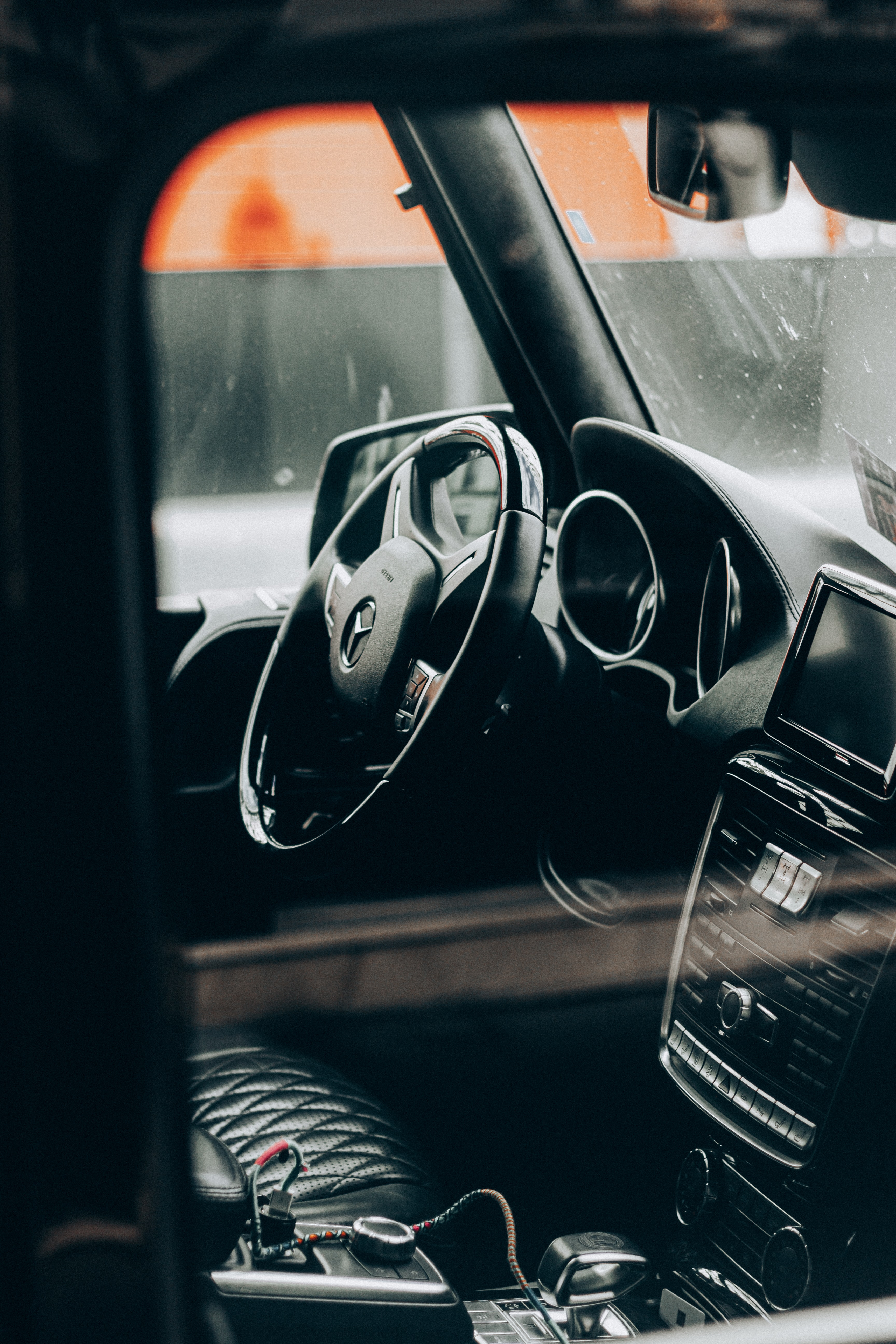 Black Car Steering Wheel During Night Time Photo Free Automobile Image On Unsplash