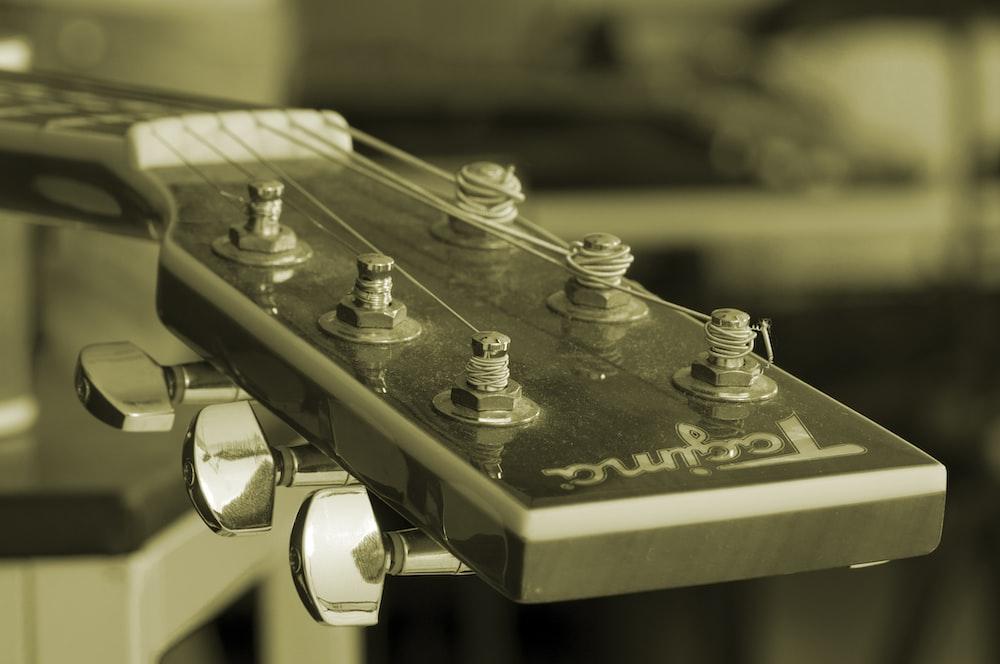 black Tagima guitar headstock