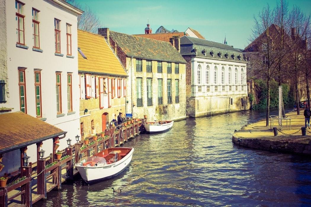 Canals of Bruges, Belgium.