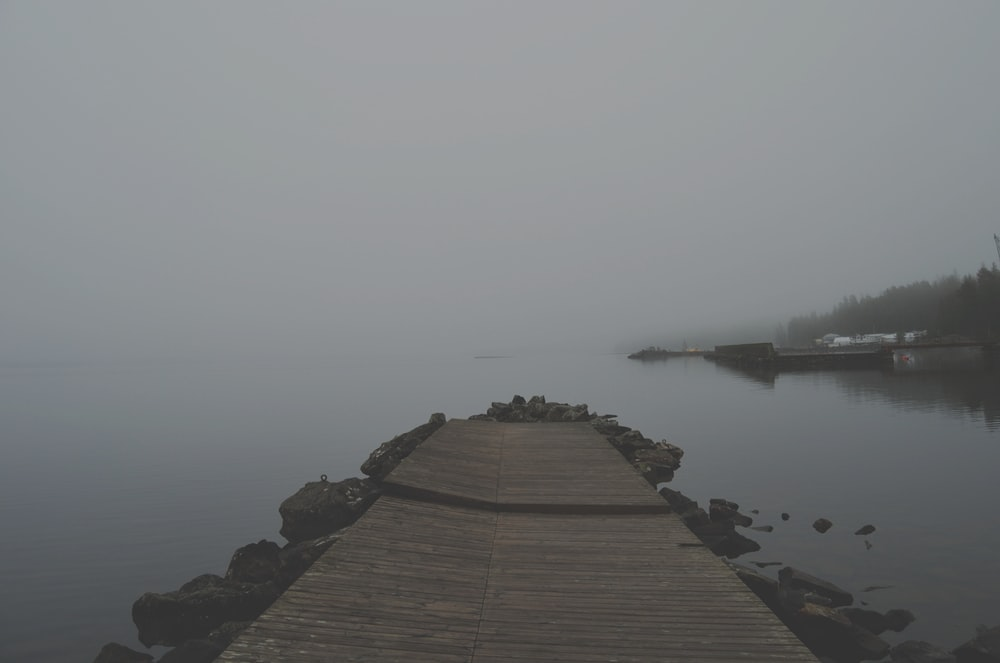 brown dock during daytime
