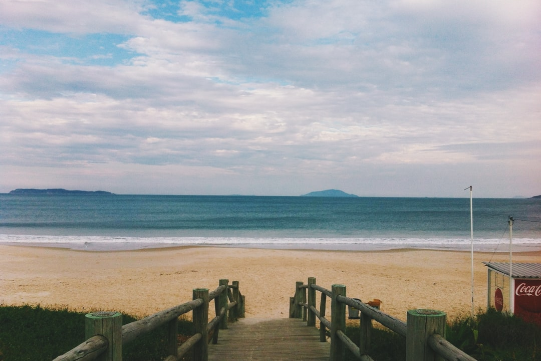 Sand beach by the ocean