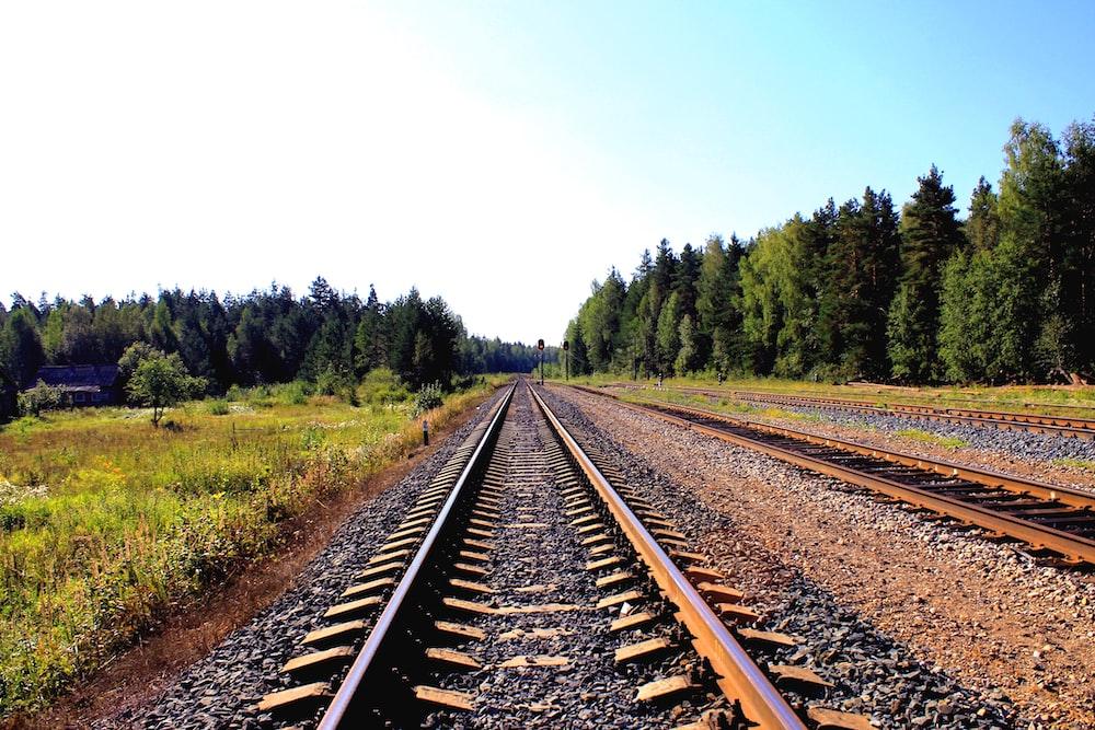 brown train rails