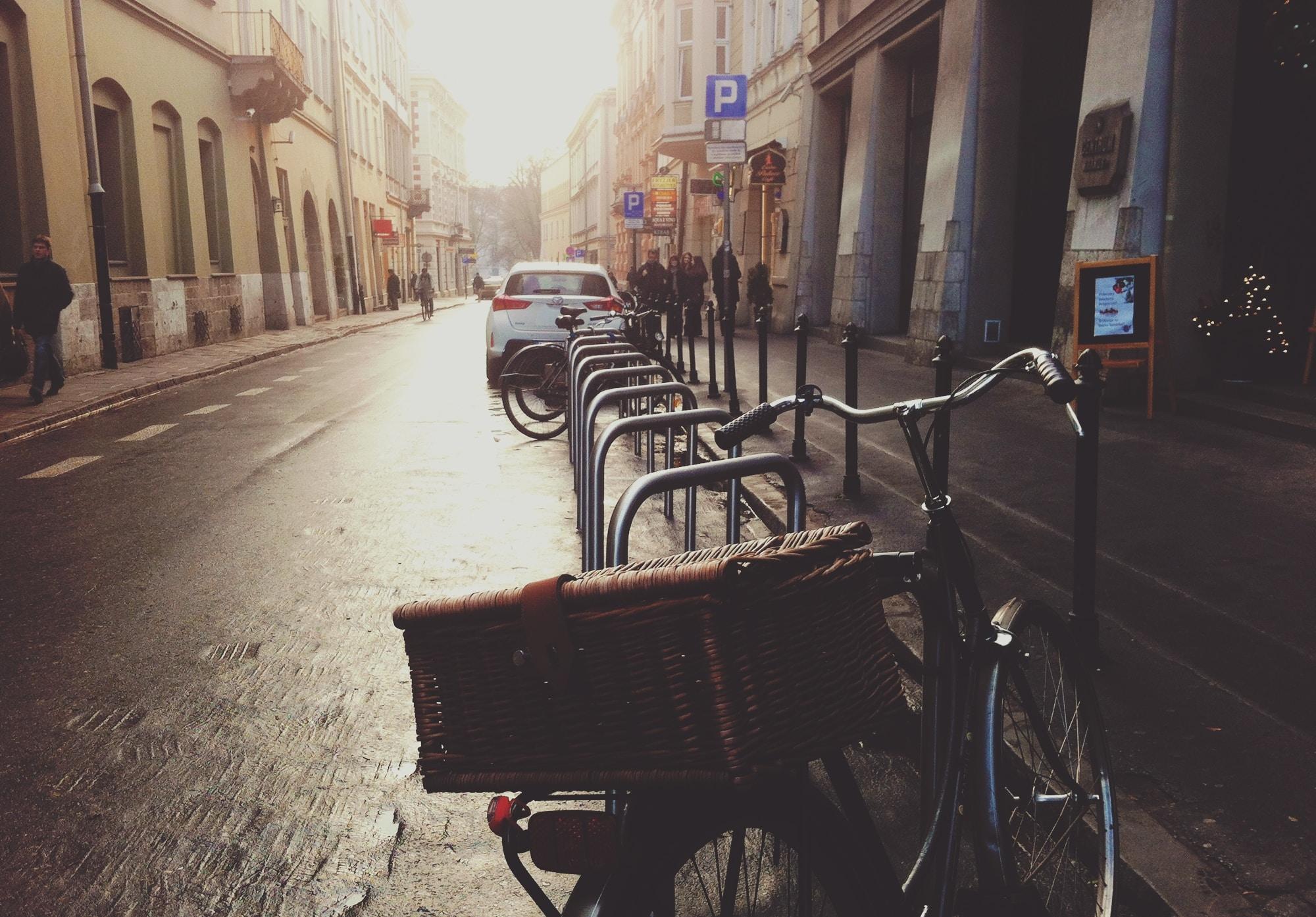 bicycle macro photography during daytime