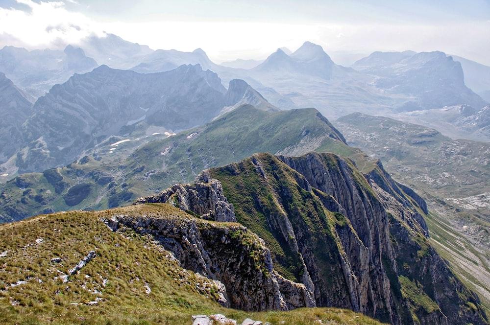 landscape photo of mountain ranges