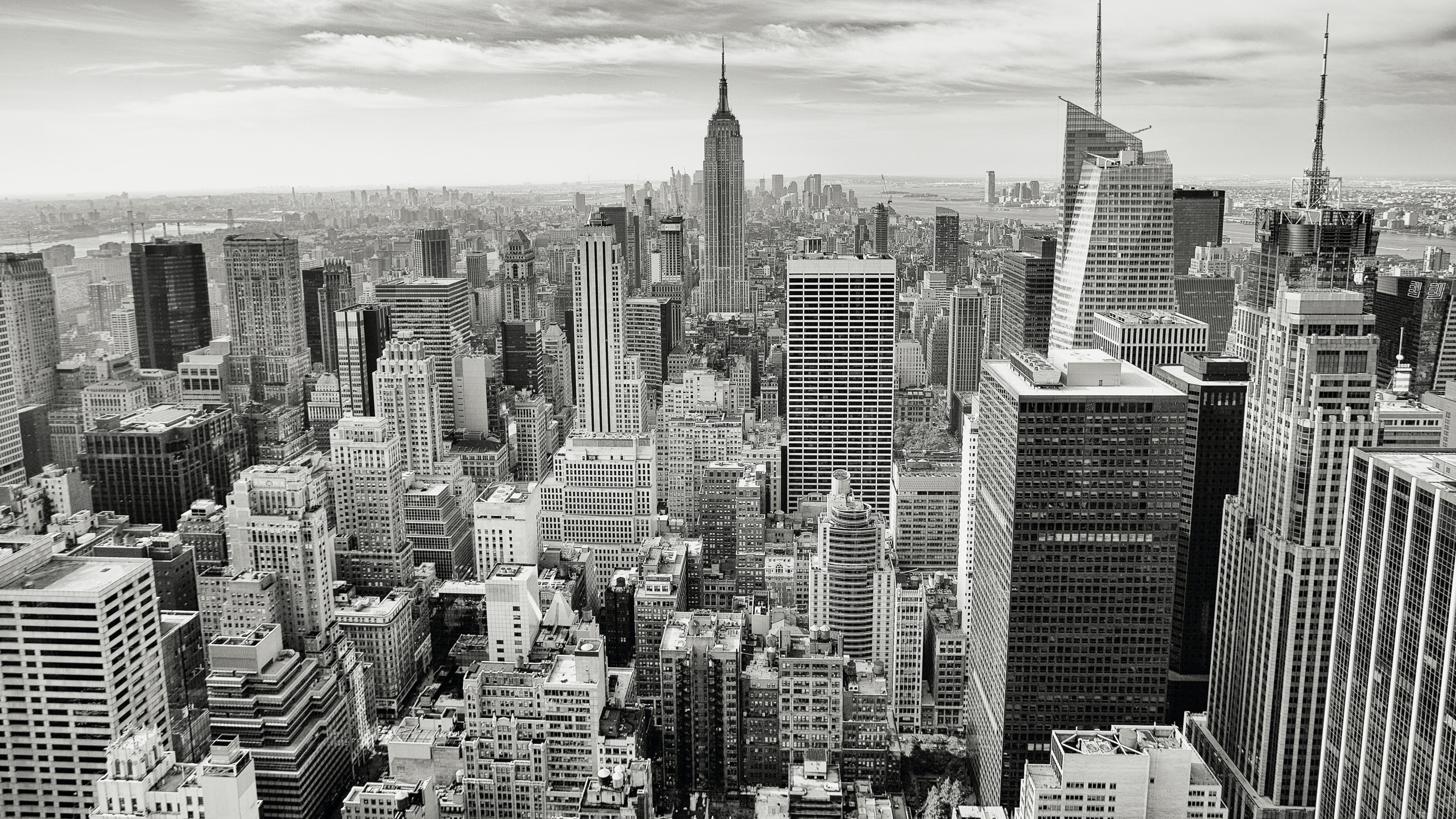 Grayscale Photography Of New York City Photo Free Black And