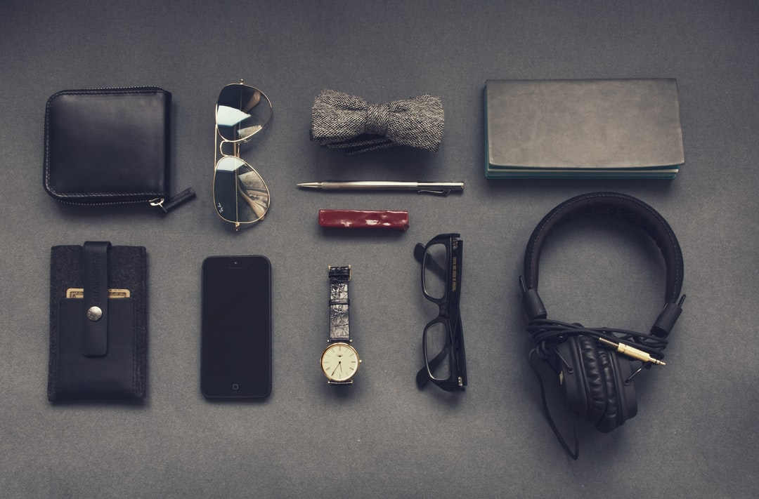 Accessories on gray