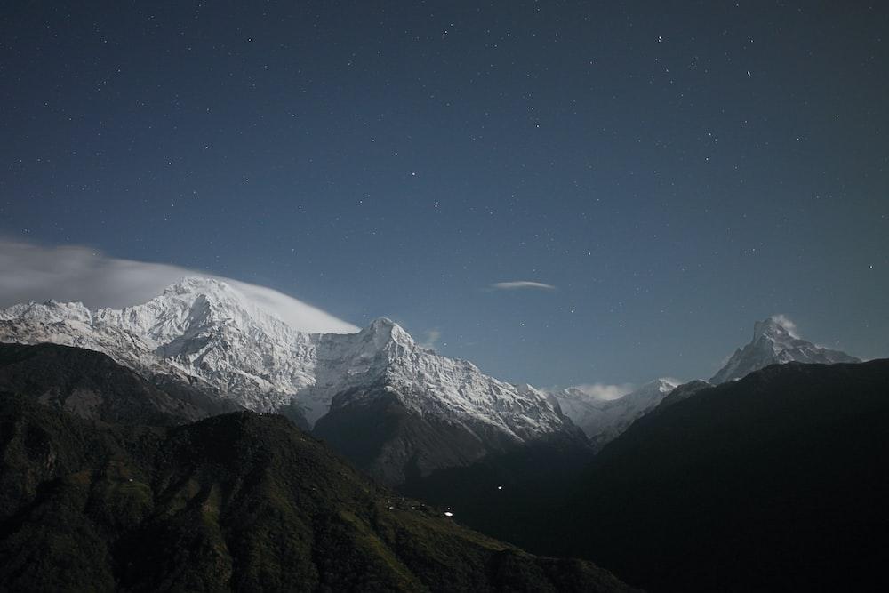 bird's eye photography of mountains