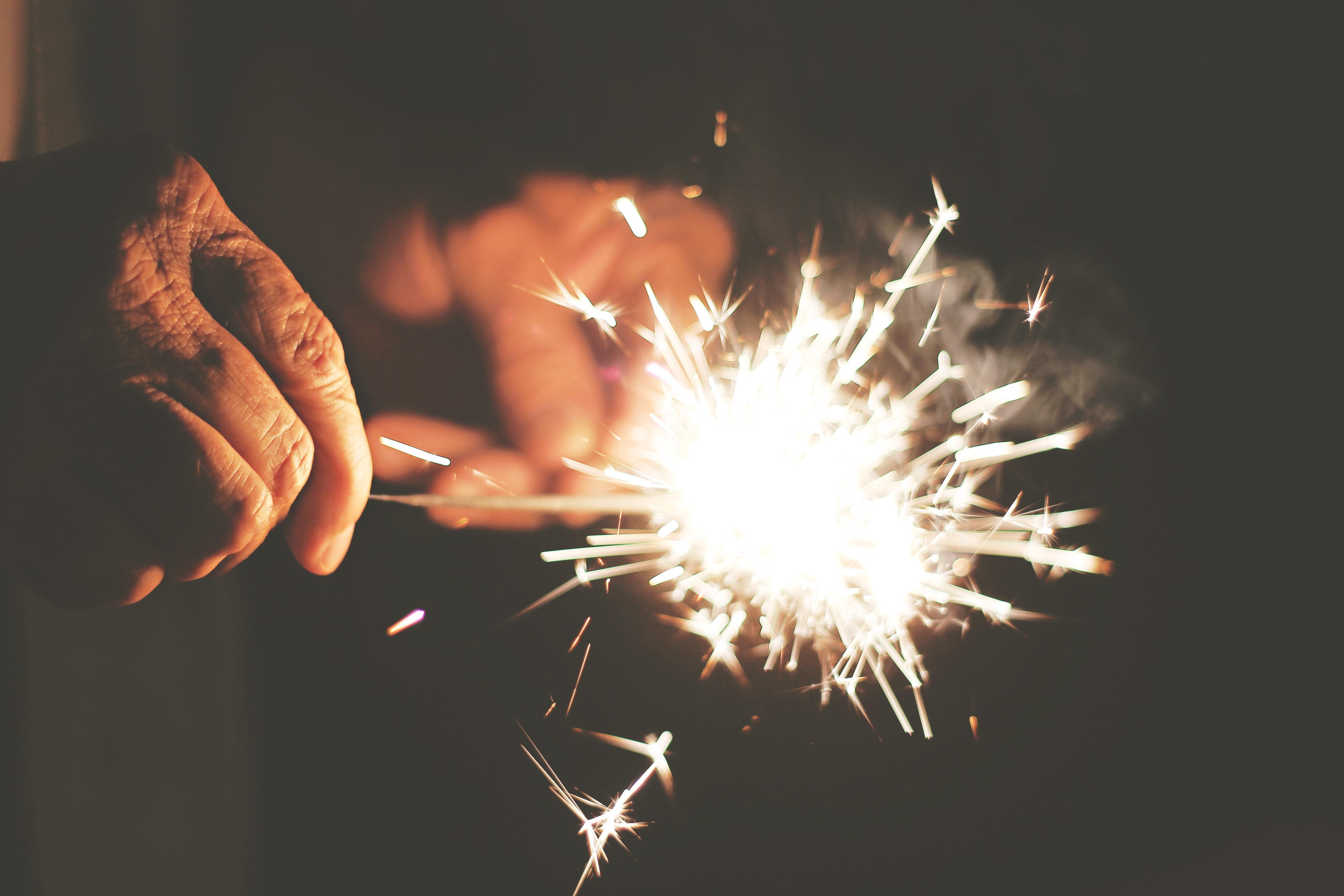 steel sparkler photography