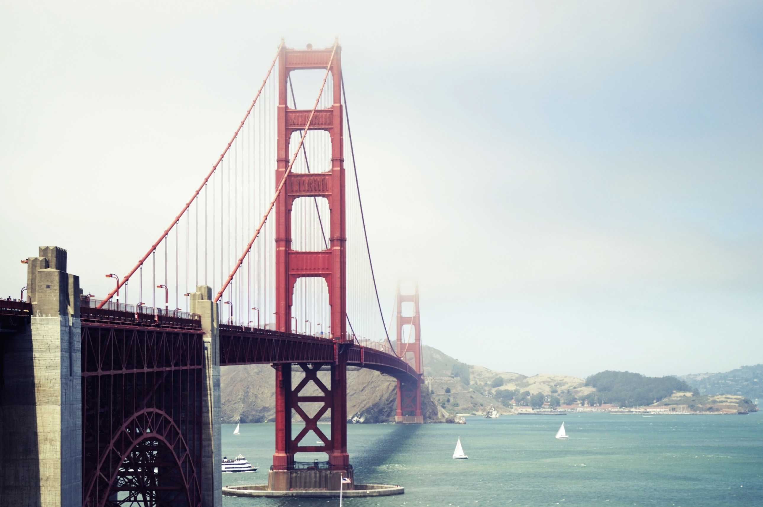 The Golden Gate Bridge in San Francisco on a clear day