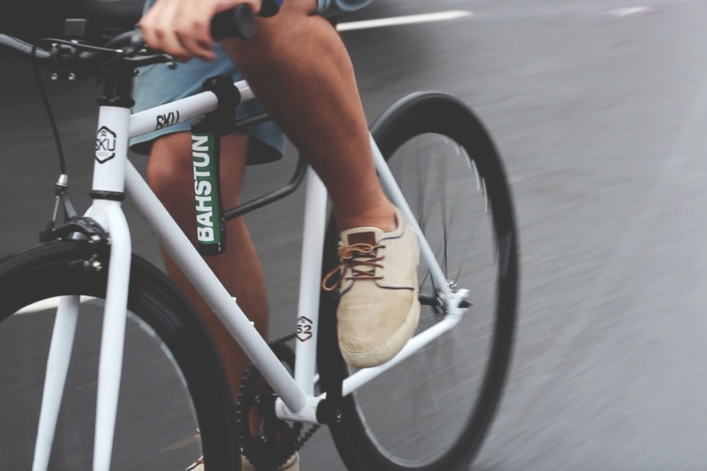 man riding on bike