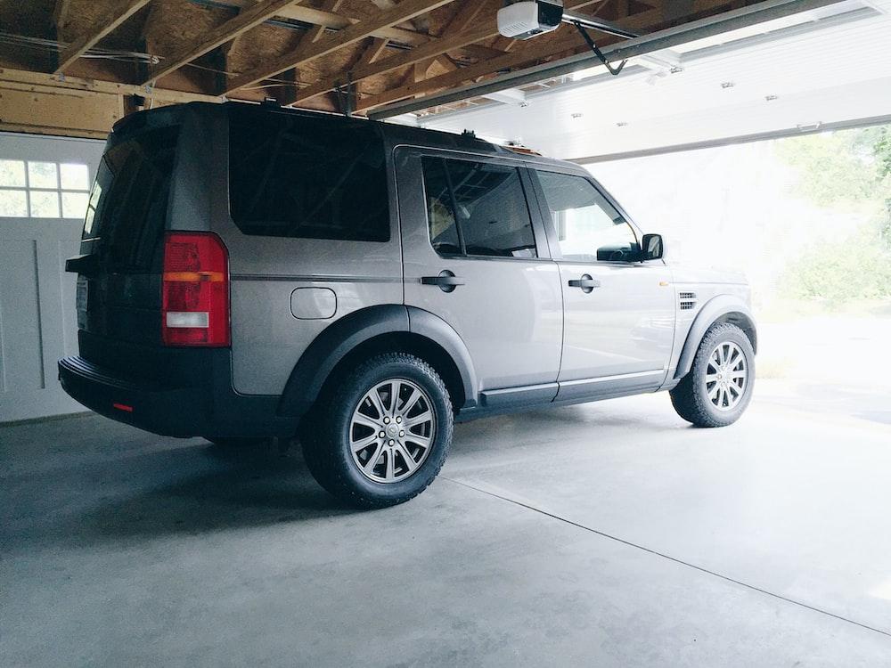 parked grey SUV