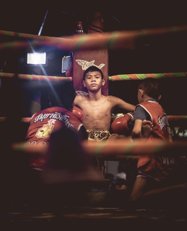 male boxer inside ring