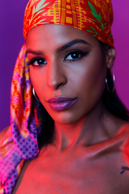 women's multicolored scarf