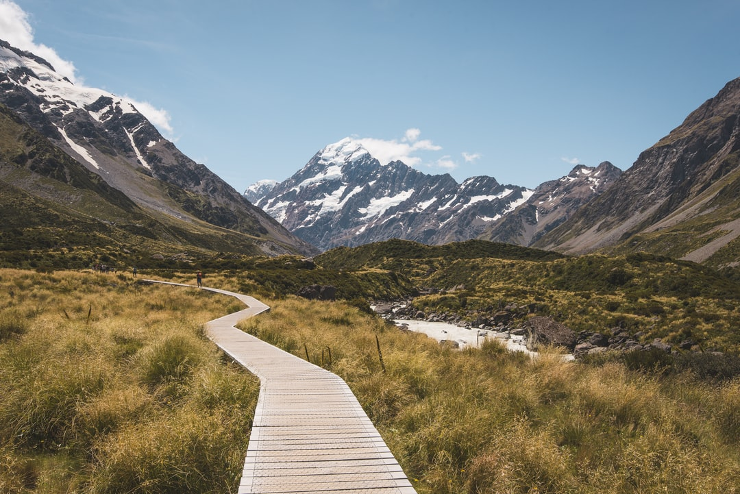 This picture is made in New Zealand at the Hooker Valley Track on the South Island.