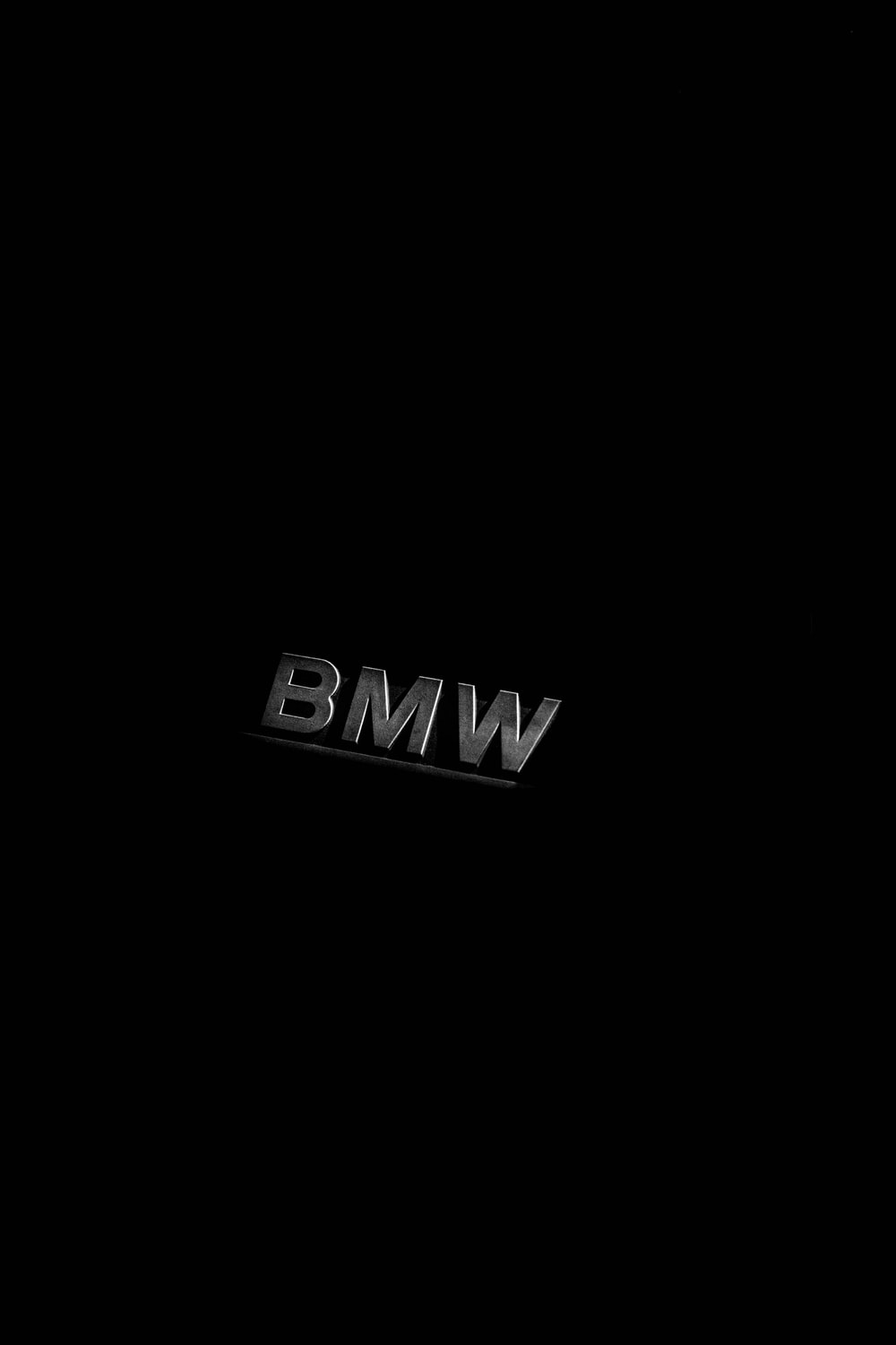 Grayscale Photography Of Bmw Emblem Photo Free Black And