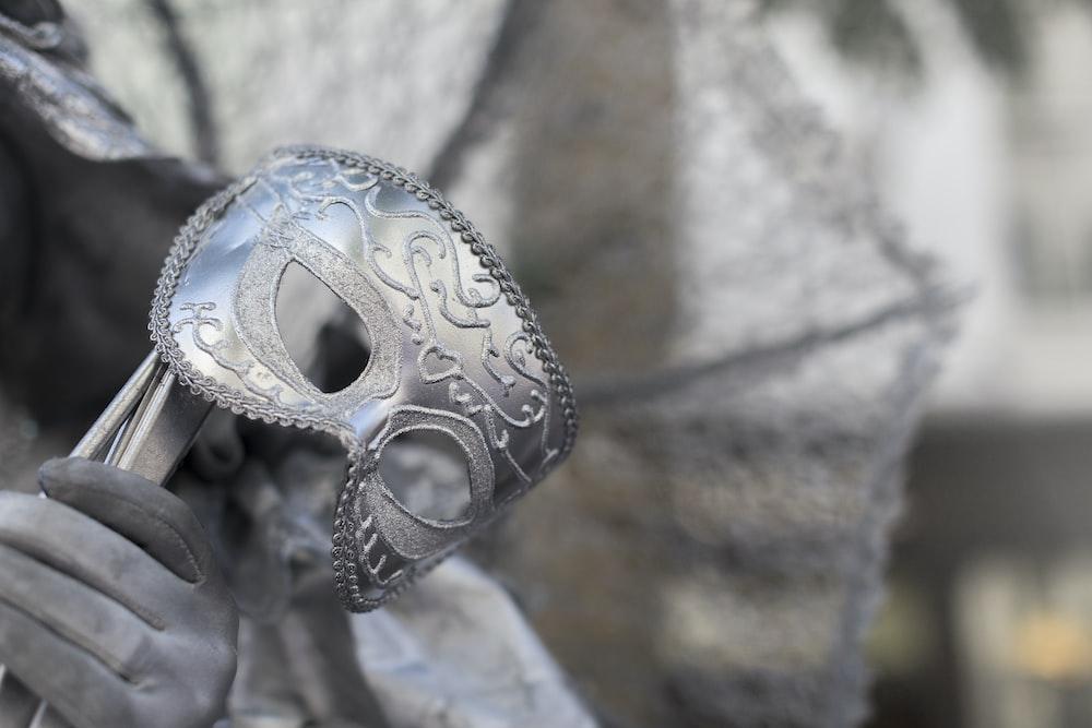gray mask