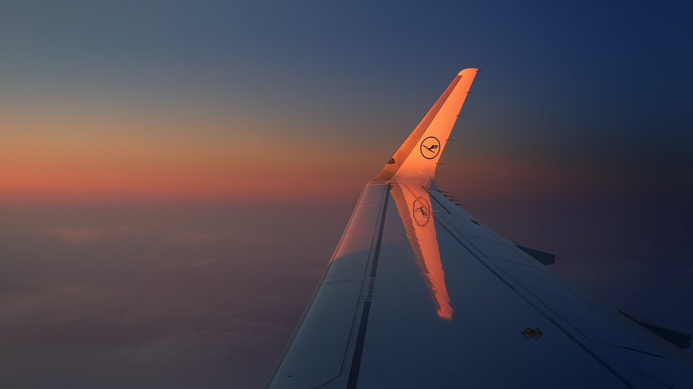 view of airliner wing