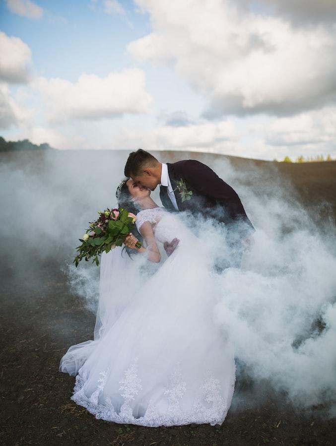 Assamse wedding Photography WITH SMOKE