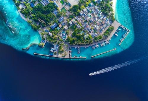 Mirihi island resort in Maldives