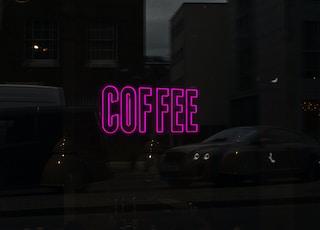 lighted Coffee neon signage