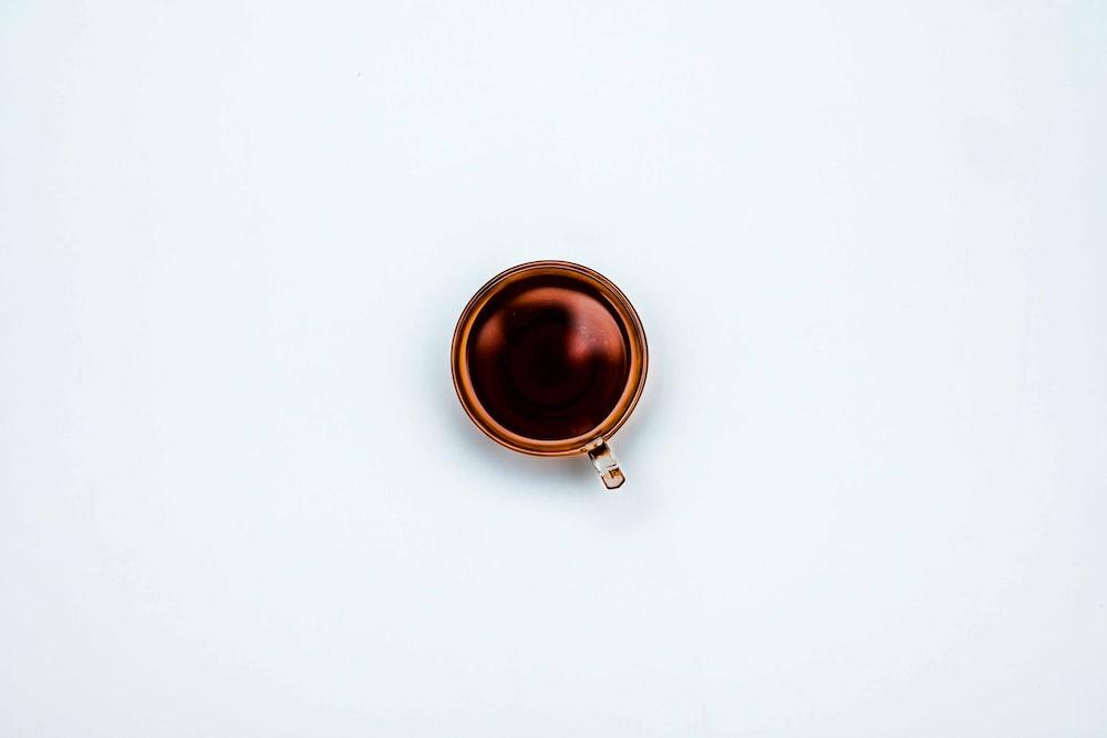 round brown mug