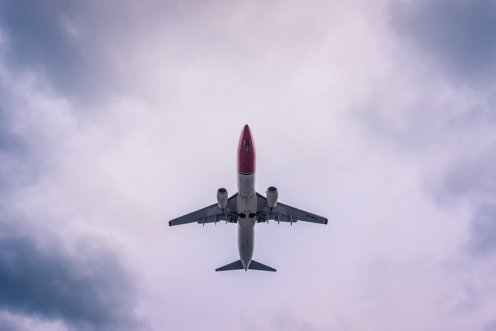 flying plane on sky