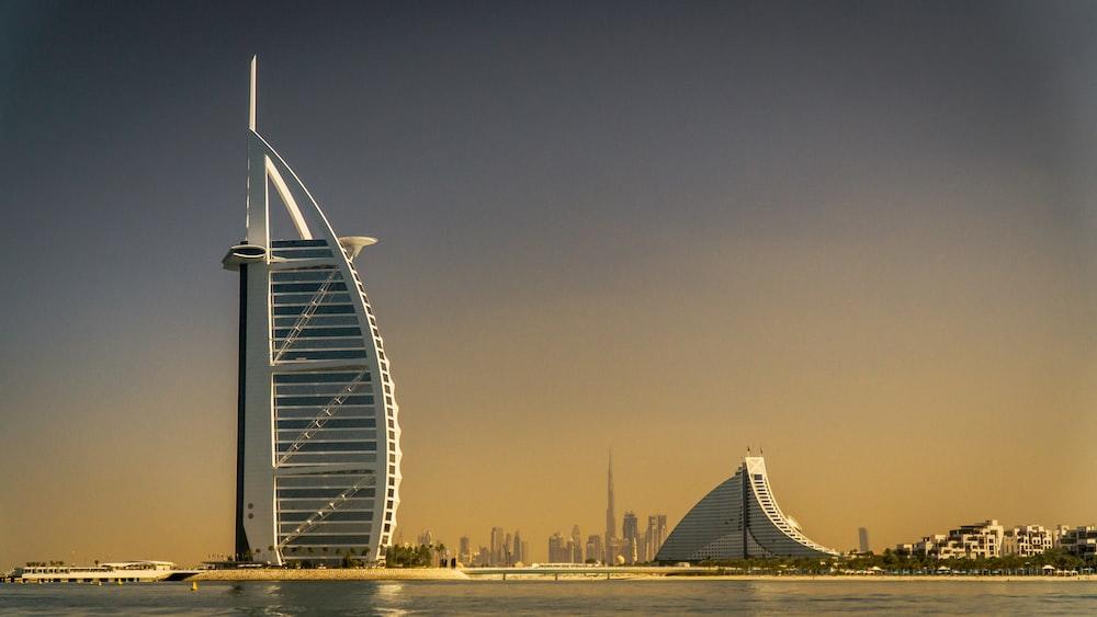 Burj Al' Arab in Dubai during daytime
