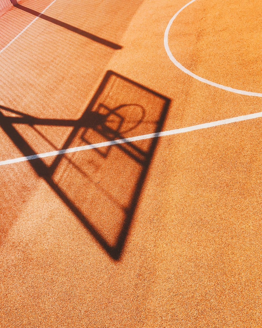 shadow of basketball hoop