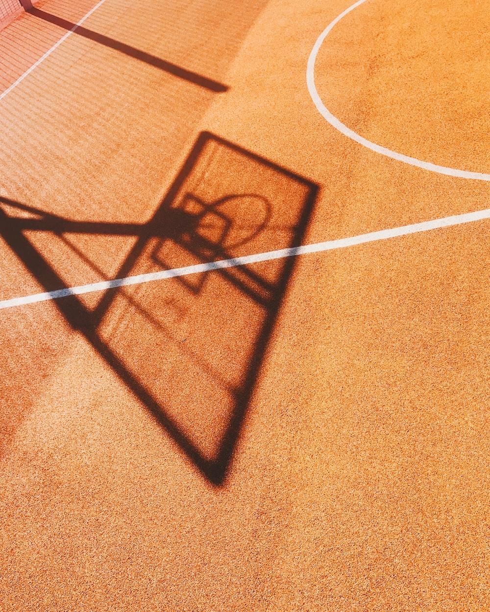 shadow of basketball hoop