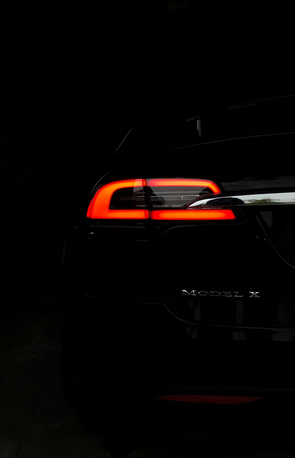 taillight of Model X vehicle