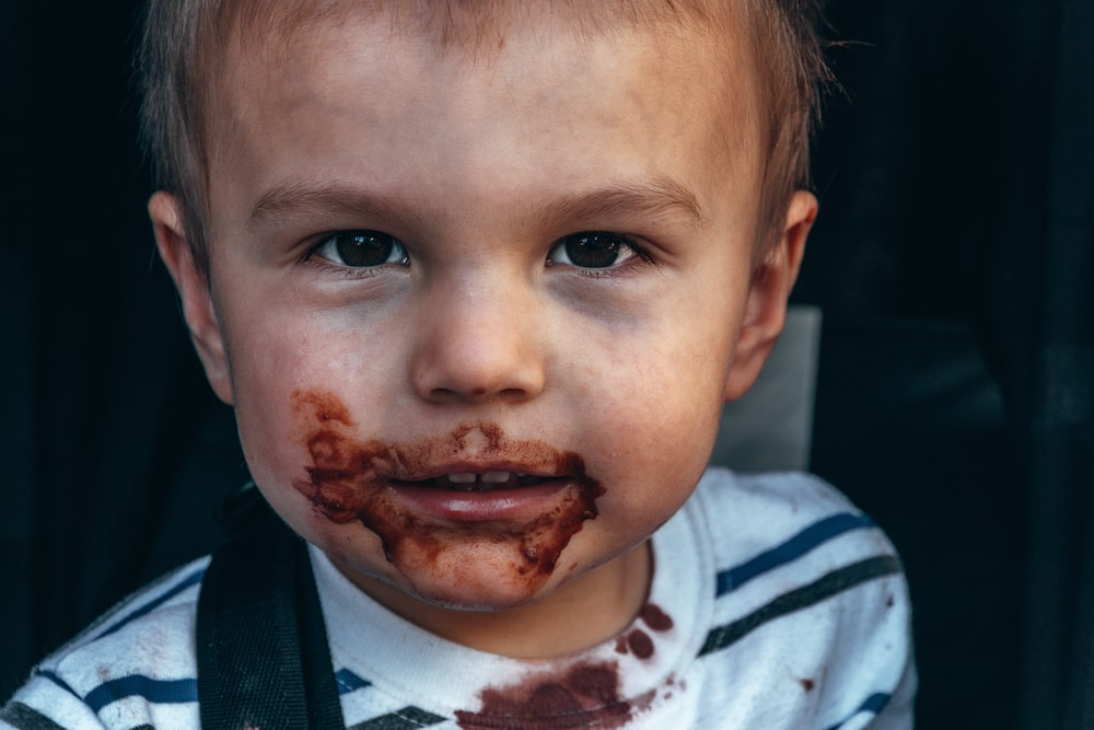 toddler's face