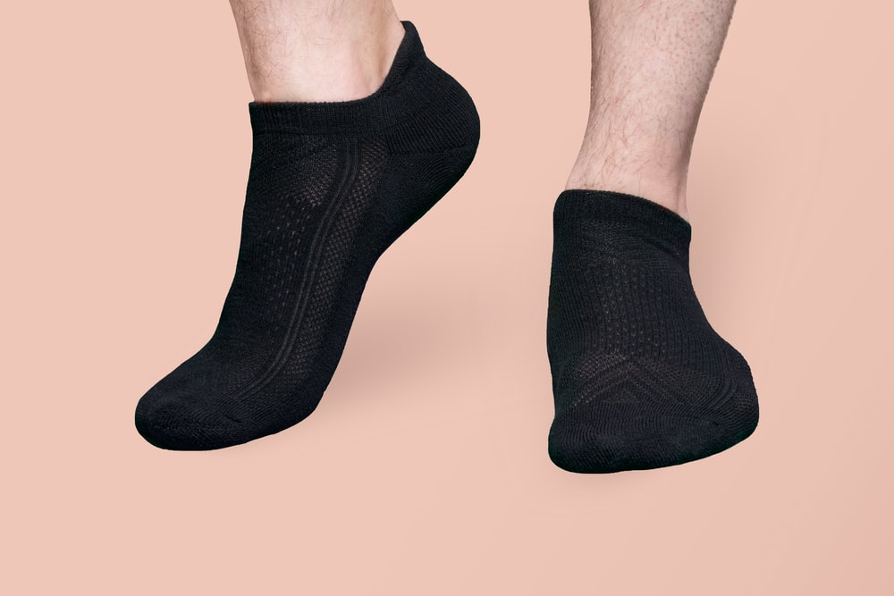 person wearing black socks