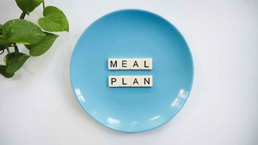 Meal Plan text on plate