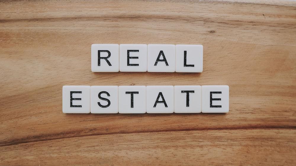 real estate letter blocks