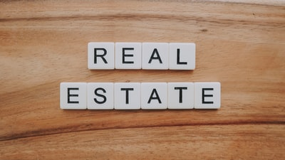 real estate letter blocks number teams background