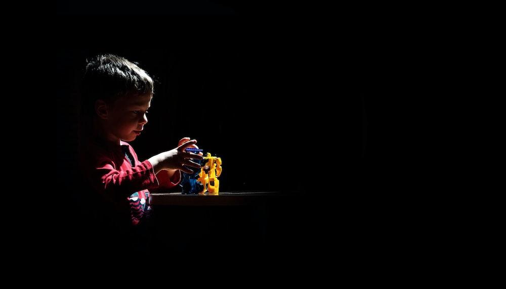 boy playing toy