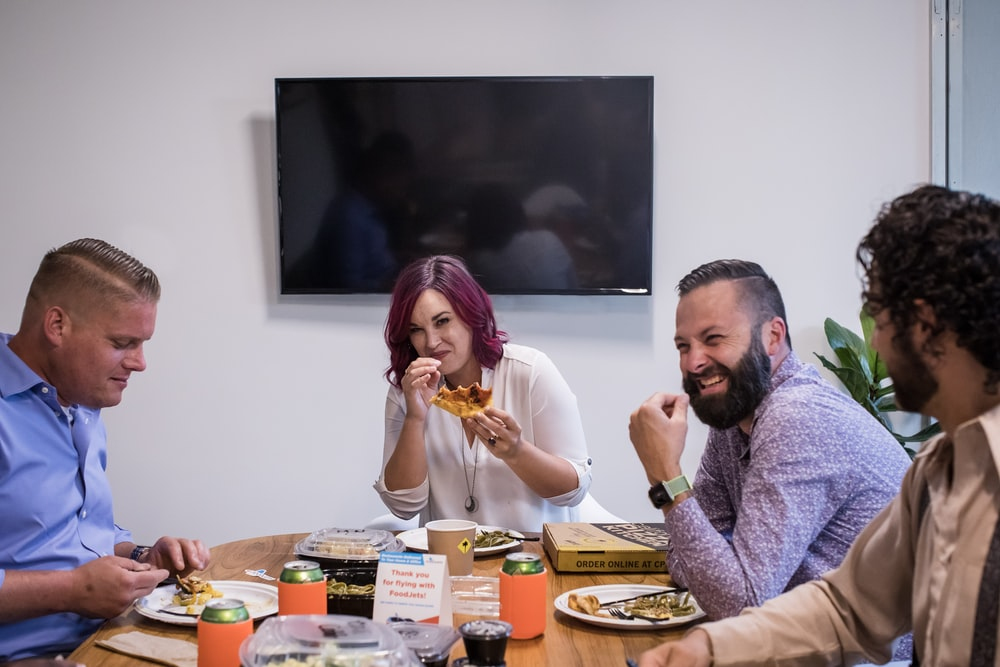 people eating at the table