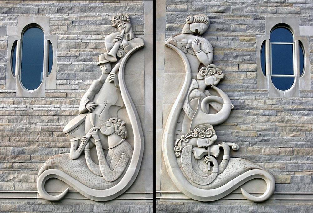 gray stone wall decorations
