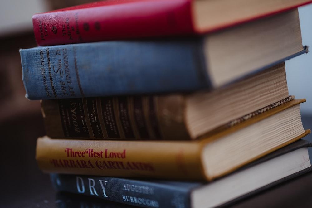 five assorted books