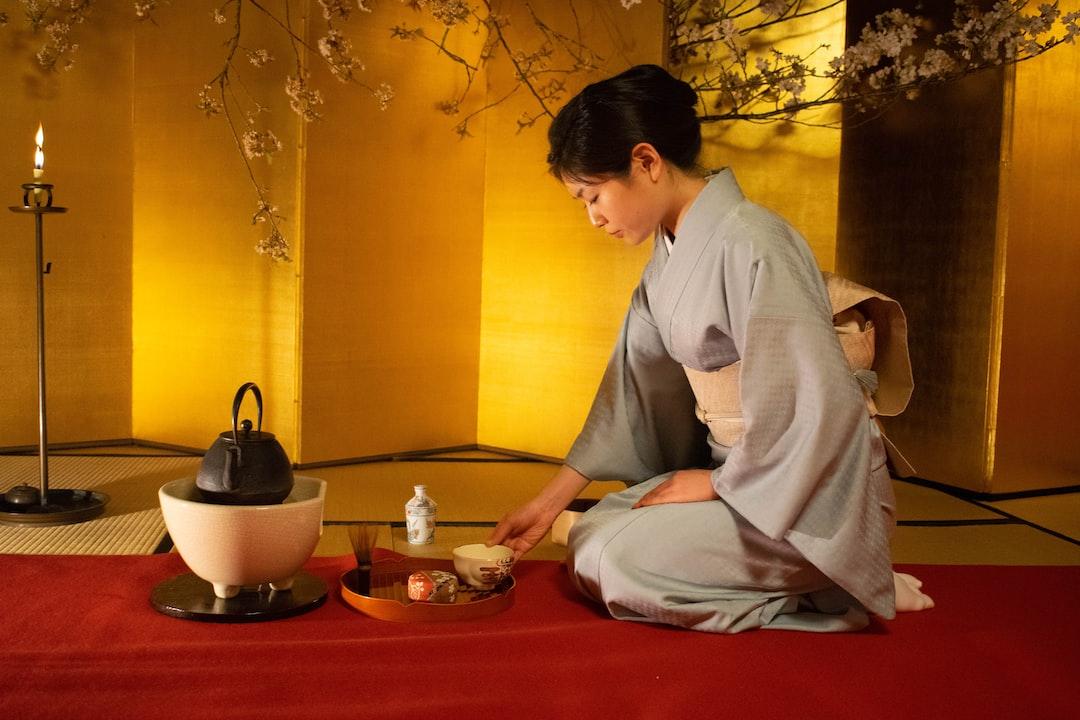 Tea Ceremony in Kyoto in Japan.