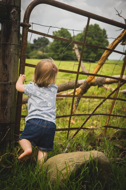 toddler walks into closed door fence
