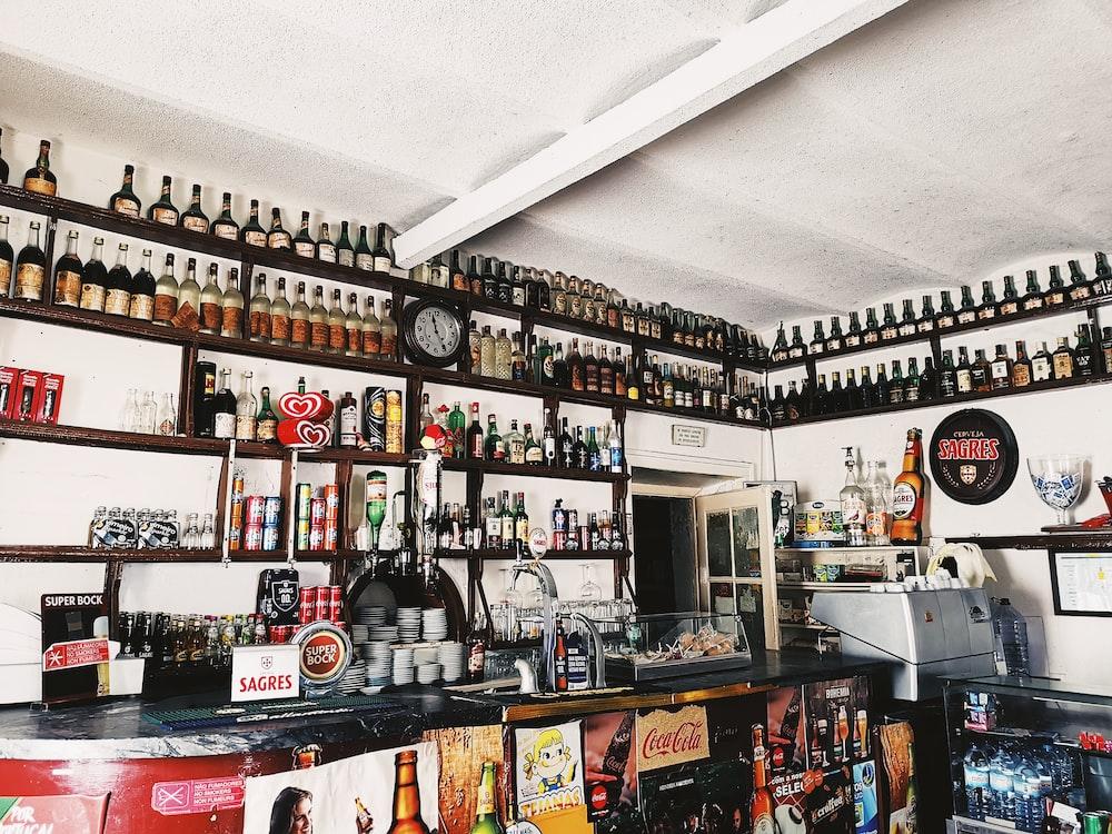 empty liquor store
