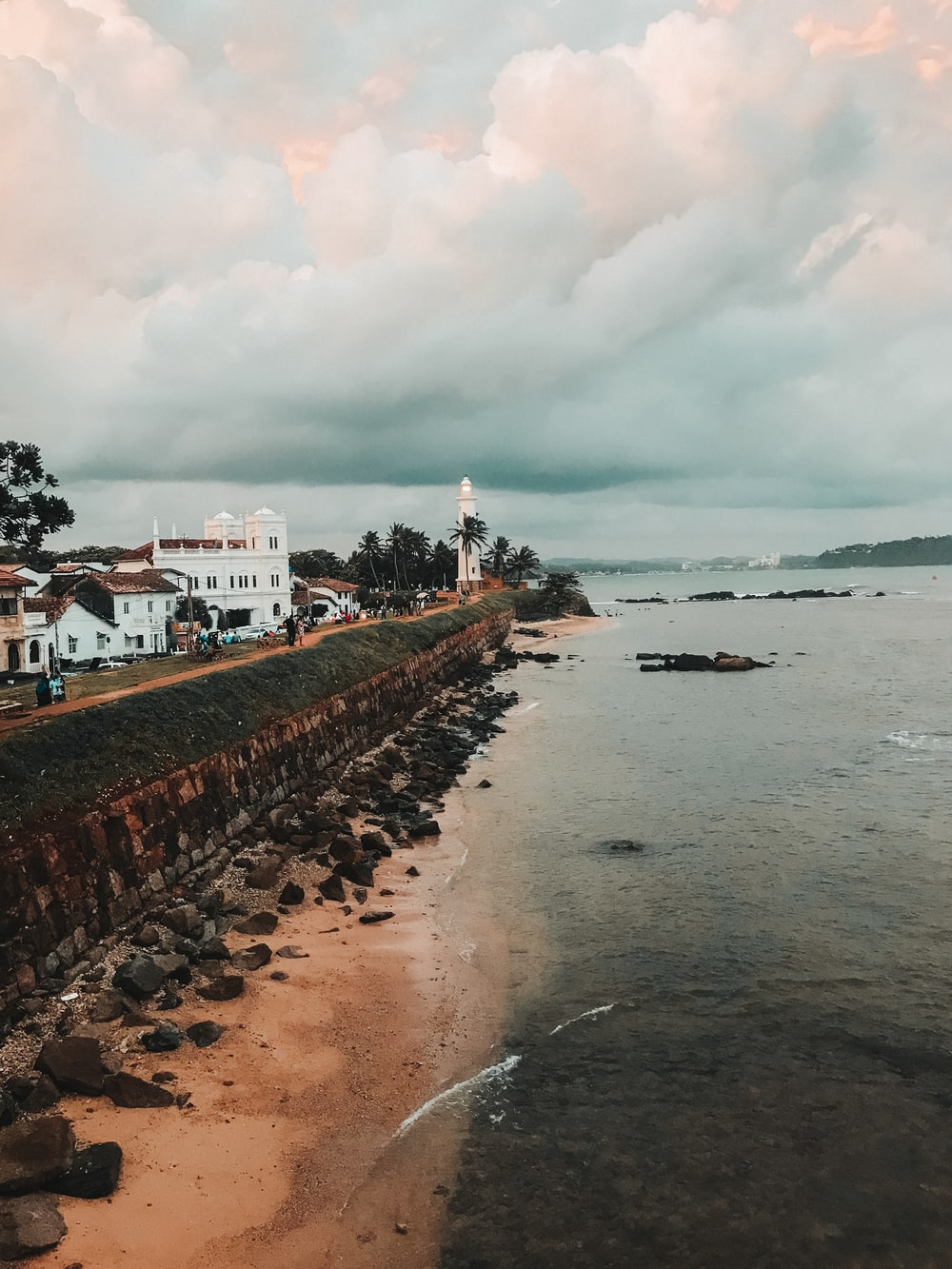 The galle fort and lighthouse
