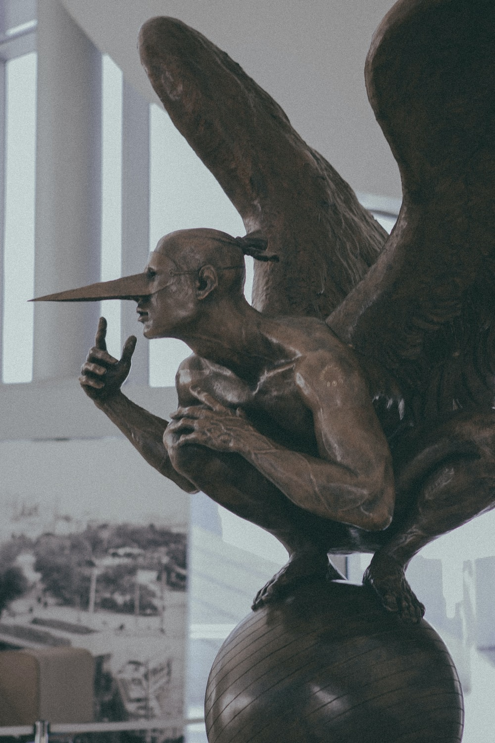 man with wings statue