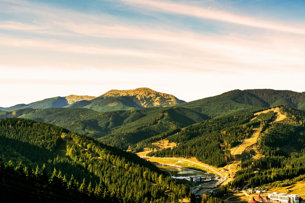 aerial photography of green mountains during daytime