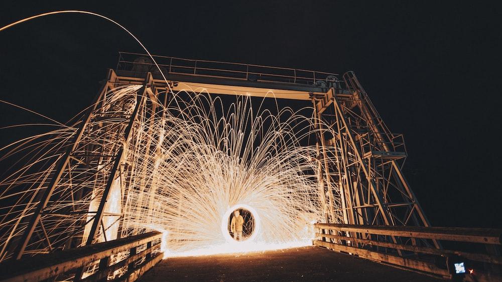 steel whool photography